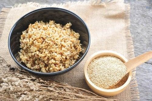 Zubereitung von Quinoa-Risotto