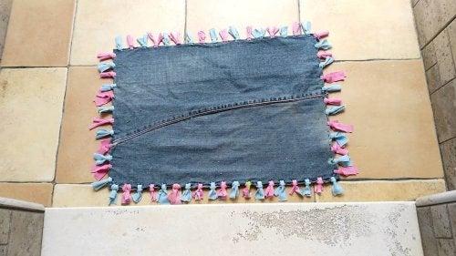 Vorläufer aus alten Jeans
