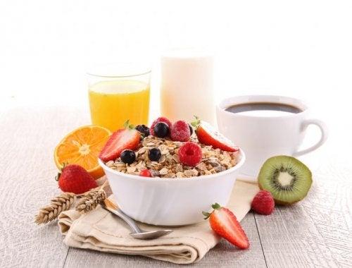 Auf ein gesundes Frühstück achten