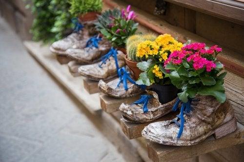 Alte Schuhe recyceln: erstaunliche Ideen