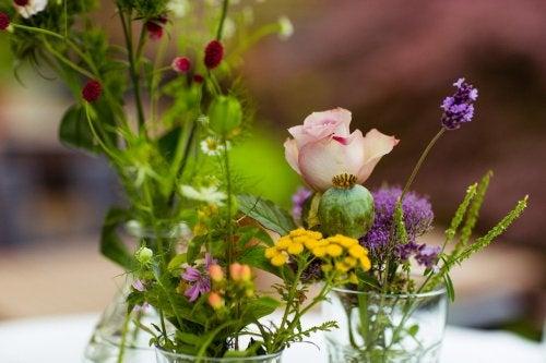 Tischdeko Blumen