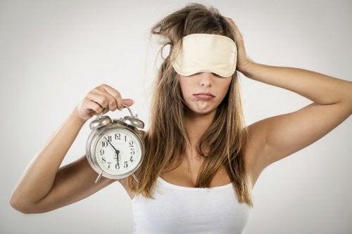 Frau will schlafen