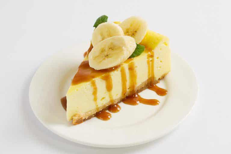 Veganer Käsekuchen mit Banane