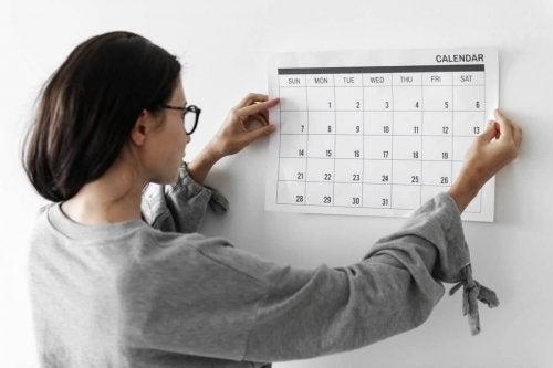 Der Kalender hilft beim Organisieren