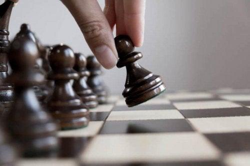 Ein Schachbrett für begabte Menschen.