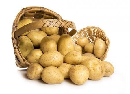 Kartoffeln zur Körperhaarentfernung