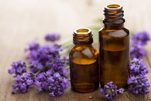Lavendelöl im Fläschchen