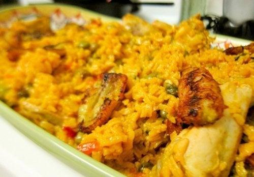 Rezept für Reis mit Hühnchen
