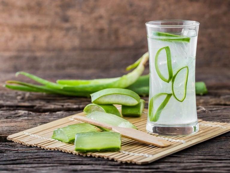 Drinks mit Aloe vera gegen langsame Verdauung