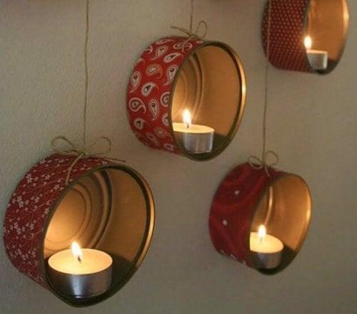 Konservendosen für Lichter
