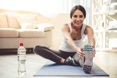 Sieben einfache Übungen für zu Hause