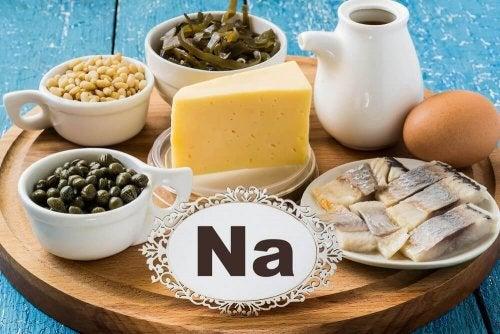 Lebensmmittel, die Natrium enthalten