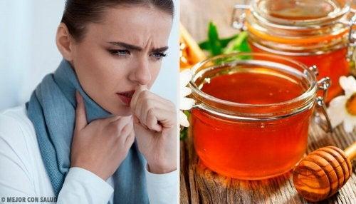 Zubereitung von Honig und lauwarmen Wasser bei Halsweh