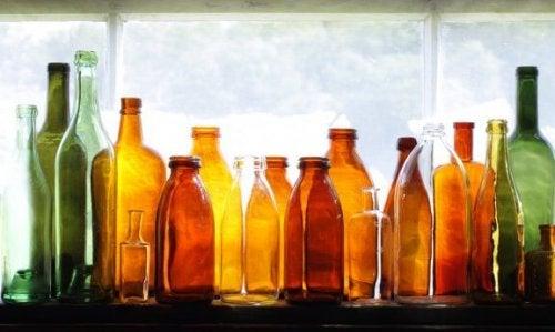Glasflaschen für deinen Garten: Dekotipp