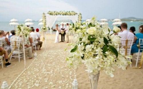 Blumen an der Hochzeit