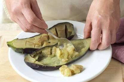 Vorbereitung der Aubergine