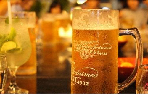 Vorzüge von Bier - Glas