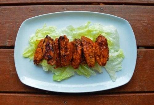 köstliche Chicken Wings - Ananas