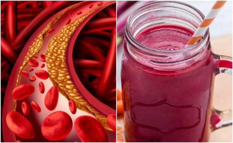 Spezialsmoothie mit Roter Beete gegen hohe Cholesterinwerte