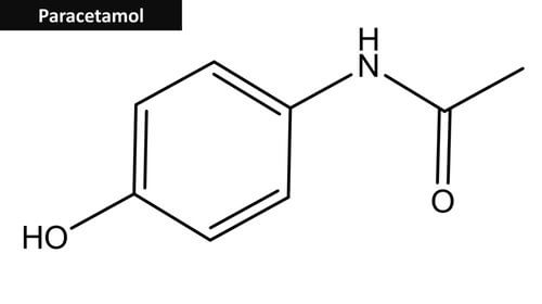 Struktur von Paracetamol