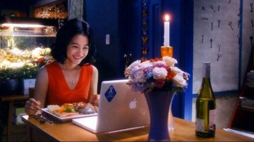 Romantisches Ferndinner