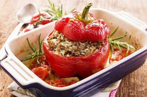 Gefüllte Paprika mit Quinoa: sehr lecker!