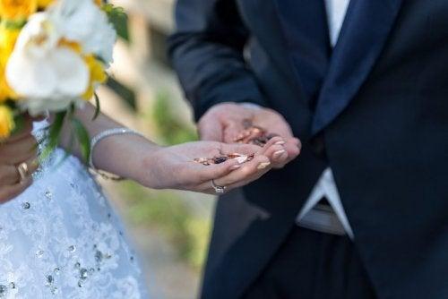 Brautgabe bei der Hochzeit