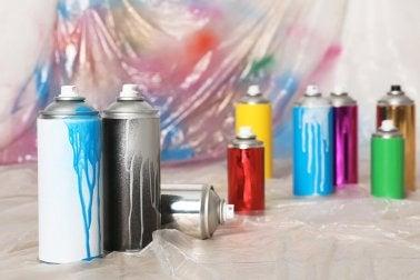 Farbspray verwenden