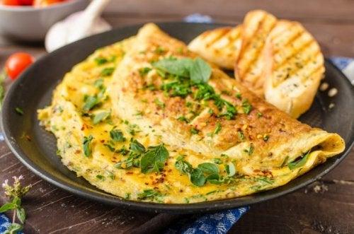Köstliches und gesundes Omelette