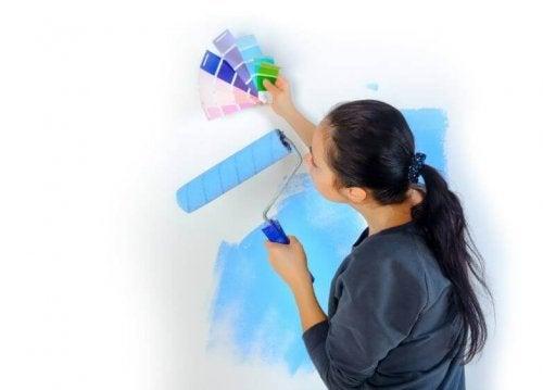 Wände streichen: probiere diese fünf Techniken aus