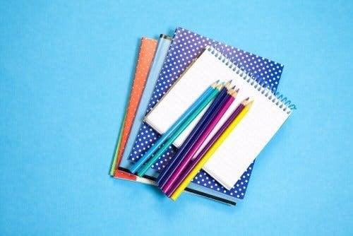 alte Notizbücher - Stifte