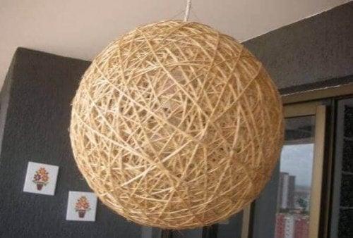 selbstgemachte Deko - Lampe