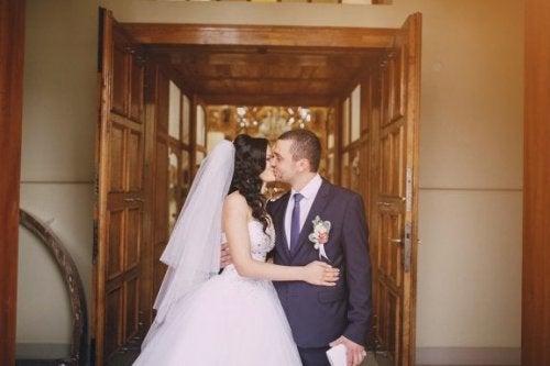 Hochzeitsmenü nach der Hochzeit