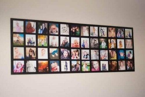 Erstelle eine Wandcollage mit deinen Familienbildern