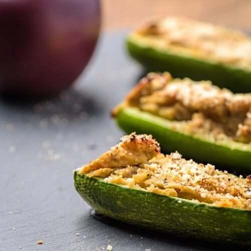 Rezepte für gefüllte Zucchini