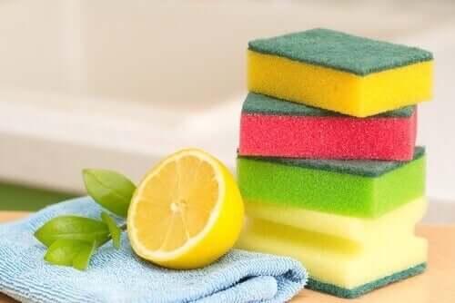 Backblech reinigen mit Zitrone