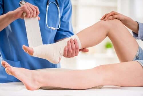 Behandlung verstauchter Knöchel