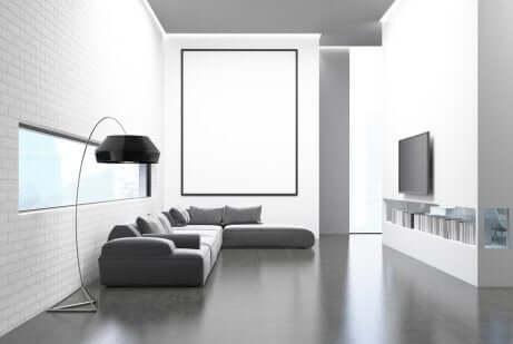 Minimalistisch einrichten: Schlichtes Wohnzimmer