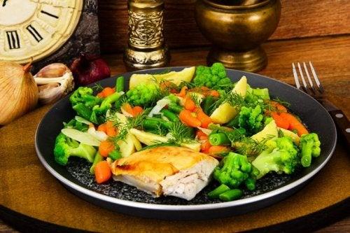 Gemüse hat weniger Kohlenhydrate