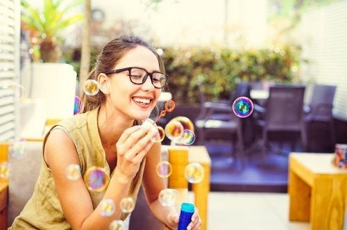 Mindfulness mit Seifenblasen