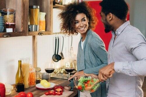 wohltuende Aktivitäten: gemeinsam kochen