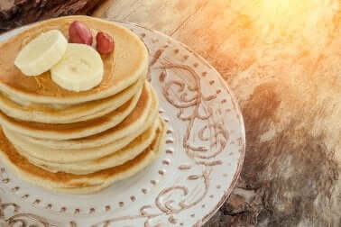 Rezept: Leckerer Pfannkuchen mit Banane
