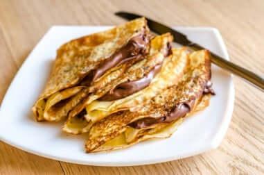 Schokoladesauce für die Pfannkuchen mit Banane