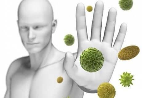 Darstellung von starkem Immunsystem