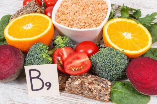 Folat oder Folsäure in Obst und Gemüse