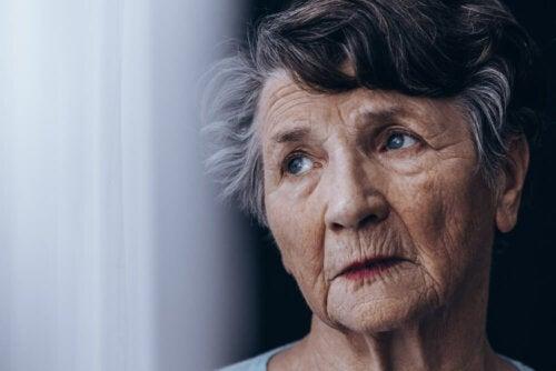Frau mit LATE Demenz