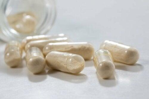Probiotische Nahrungsergänzungsmittel in Kapseln