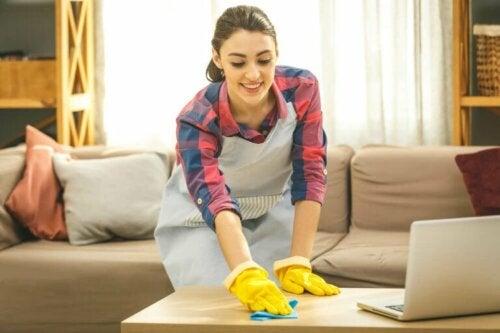 Haus reinigen und desinfizieren