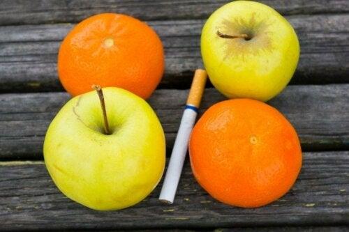 Gesunde Ernährung, um mit dem Rauchen aufzuhören