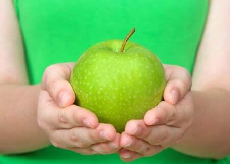 Gelee mit grünem Apfel